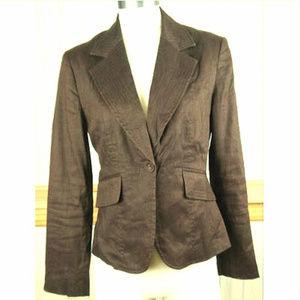 Apt. 9 Blazer ~ Brown Linen Blend Lined Jacket
